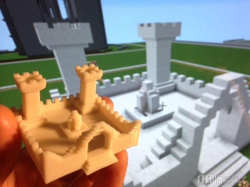 我的世界 城堡 3D模型  图1