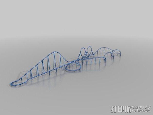 过山车轨道 3D模型  图2