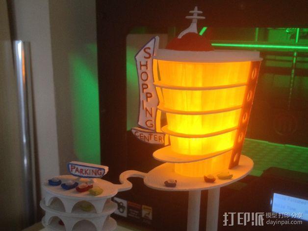 购物中心灯罩 3D模型  图3