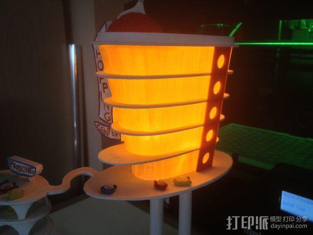 购物中心灯罩 3D模型  图5