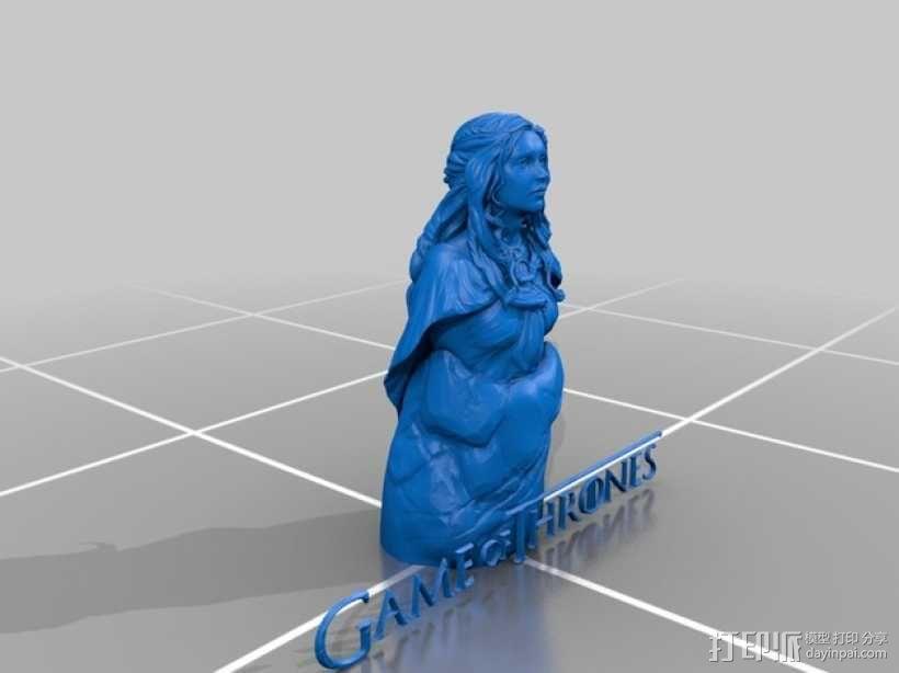 Daenerys Targaryen丹妮莉丝·坦格利安  3D模型  图1