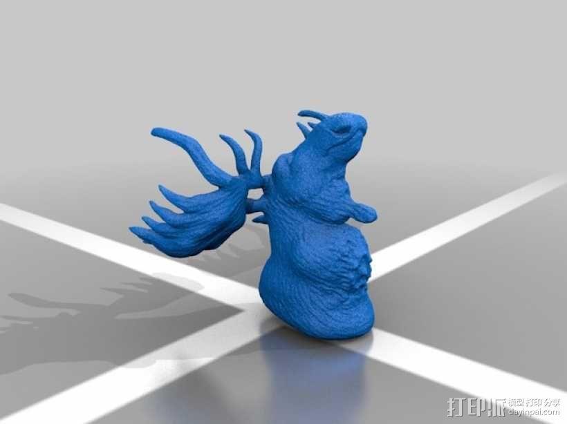 公麋鹿半身模型 3D模型  图1
