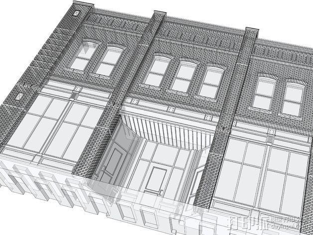 贸易大厦模型 3D模型  图2