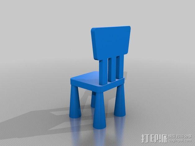 宜家儿童椅 3D模型  图1
