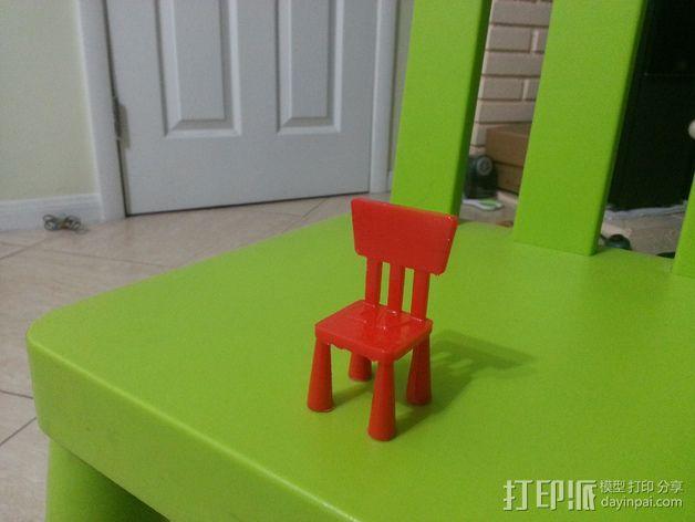 宜家儿童椅 3D模型  图3