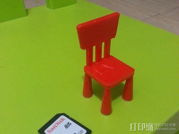 宜家儿童椅 3D模型  图4