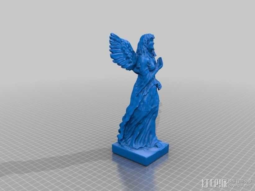 天使雕塑 3D模型  图2