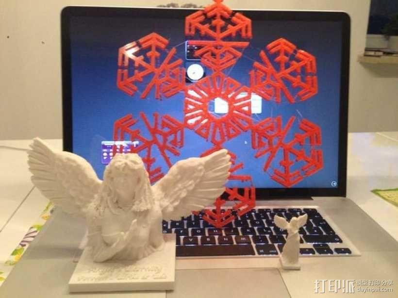 天使雕塑 3D模型  图3