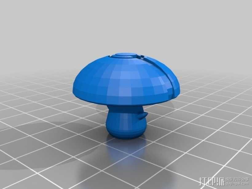 蘑菇孢子 口袋妖怪 3D模型  图1