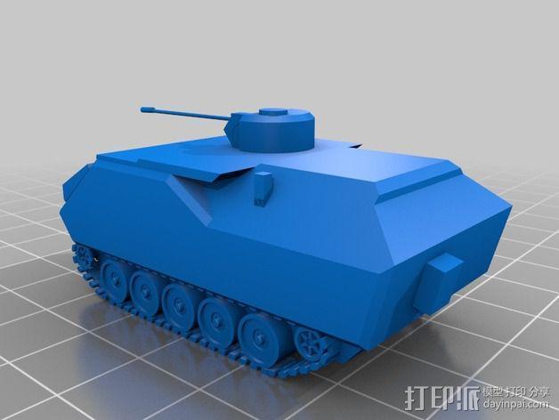 ypr 765坦克 3D模型  图1