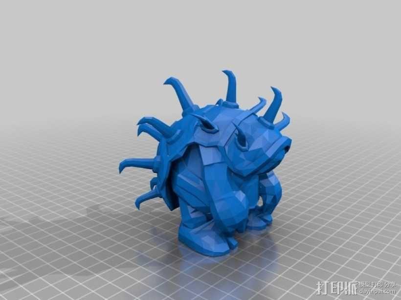 披甲龙龟拉莫斯  3D模型  图1