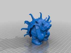 披甲龙龟拉莫斯  3D模型