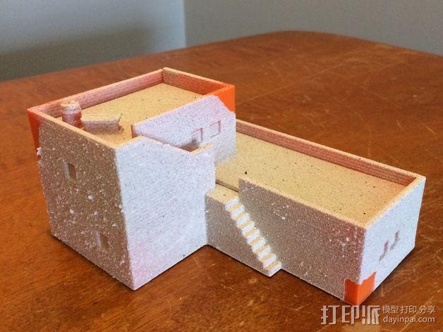 沙漠之家 建筑模型 3D模型  图3