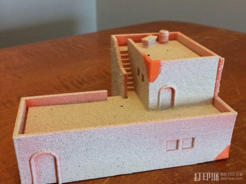 沙漠之家 建筑模型 3D模型  图1