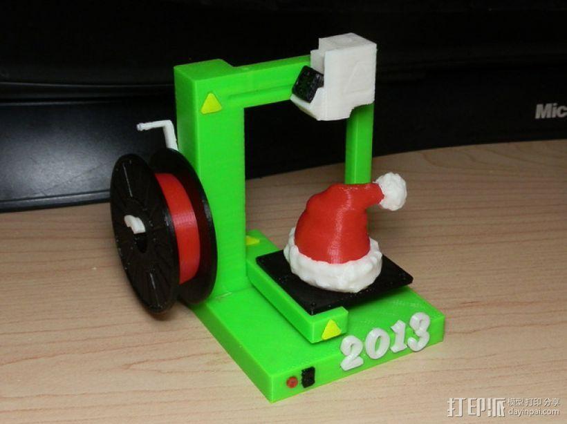 圣诞装饰品:圣诞帽 3D模型  图1