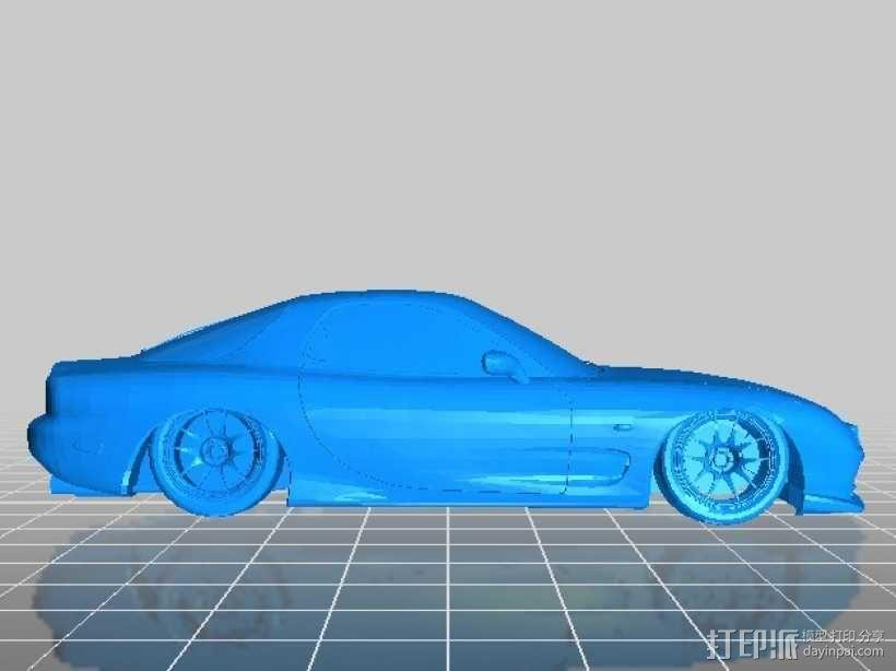 Mazda RX-7 马自达跑车 3D模型  图1