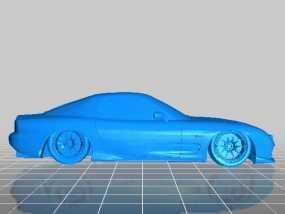 Mazda RX-7 马自达跑车 3D模型