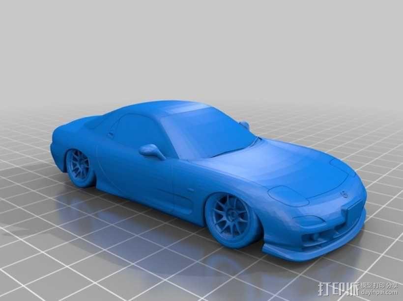 Mazda RX-7 马自达跑车 3D模型  图2