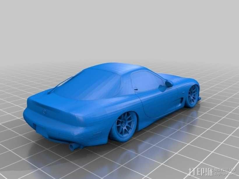 Mazda RX-7 马自达跑车 3D模型  图3