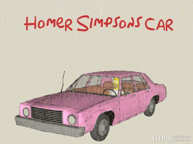 辛普森的车 3D模型  图1