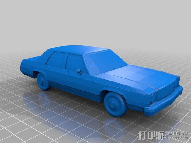 辛普森的车 3D模型  图2