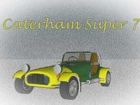Caterham Super Seven复古跑车 3D模型