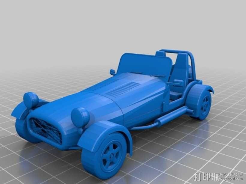 Caterham Super Seven复古跑车 3D模型  图2