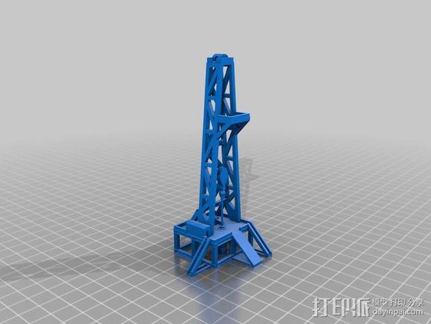石油钻塔 3D模型  图3