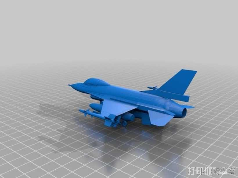 Falcon F16战斗机 3D模型  图2