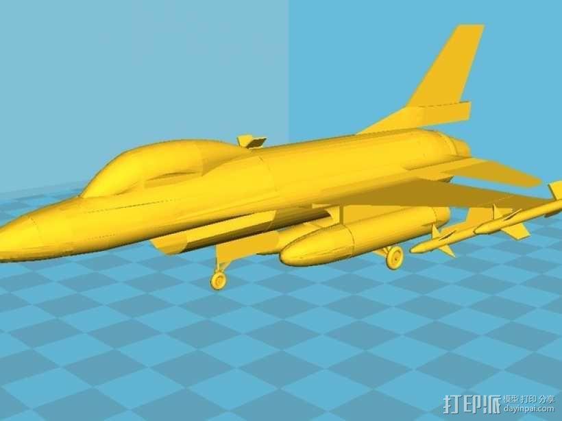 Falcon F16战斗机 3D模型  图1