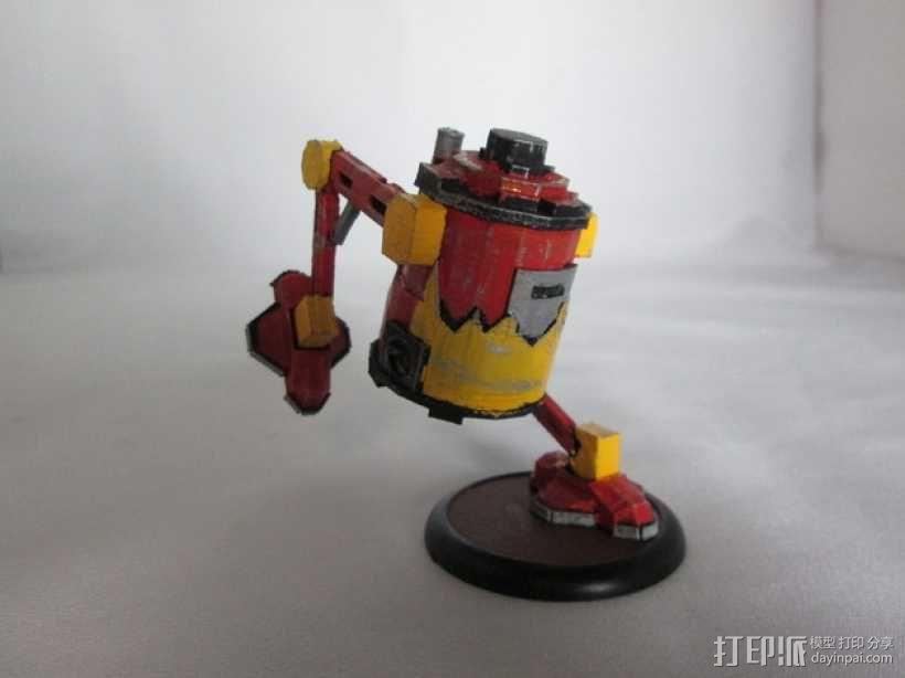 铁罐机器人 3D模型  图1