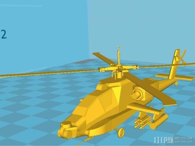 Apache AH64-D 直升机 3D模型  图1