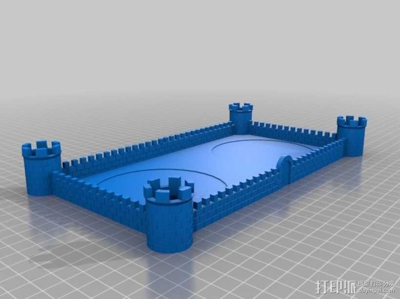 城堡围墙 3D模型  图1