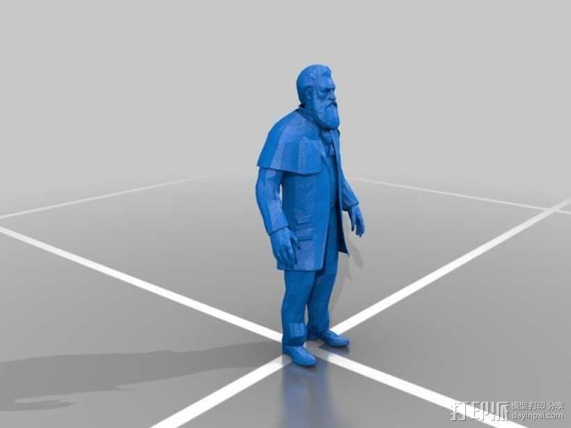Zachary Hale Comstock扎卡里·黑尔·康姆斯托克  3D模型  图1