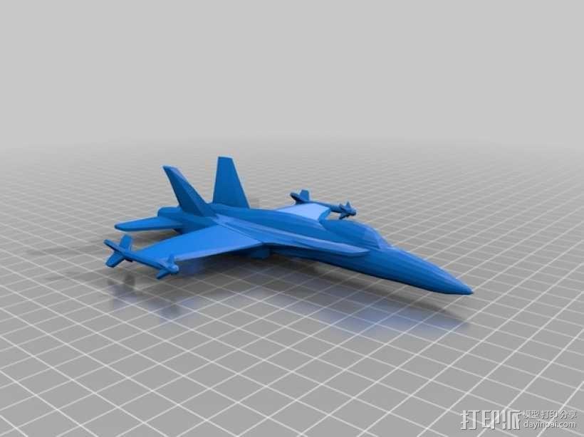 mc donnell喷射式战斗机 3D模型  图2