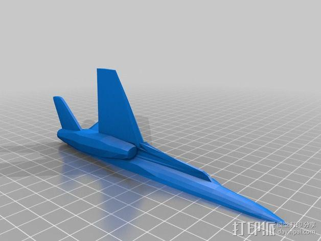 mc donnell喷射式战斗机 3D模型  图3