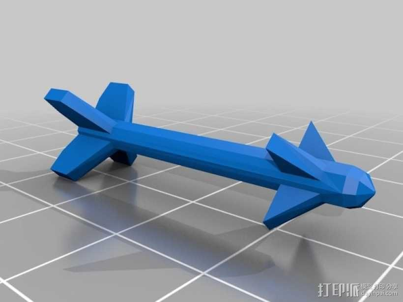 mc donnell喷射式战斗机 3D模型  图5
