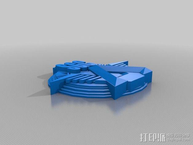 Sgc 徽章标志 3D模型  图1