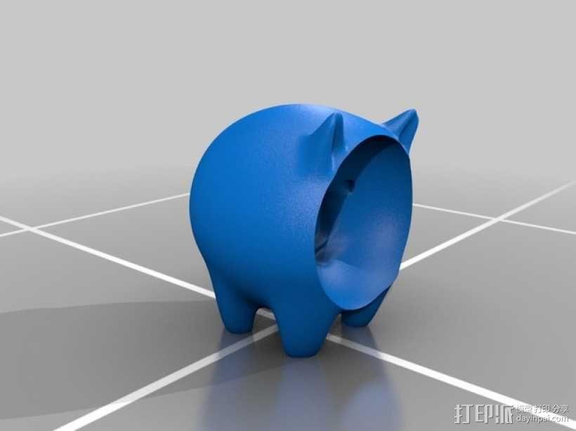 凹面猪 3D模型  图2