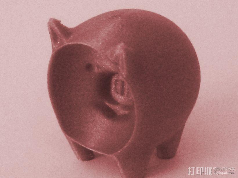凹面猪 3D模型  图1