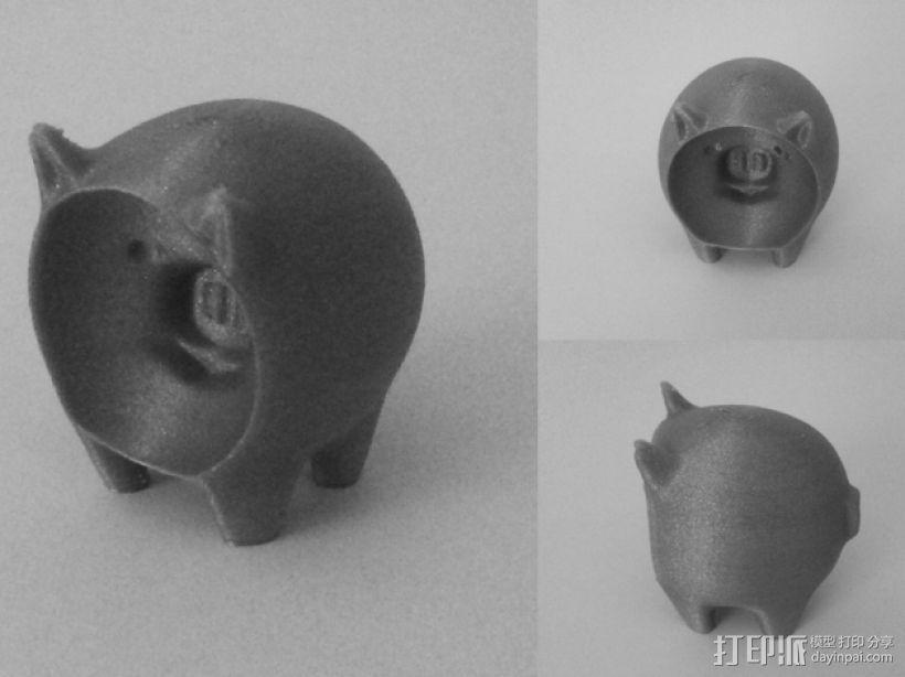 凹面猪 3D模型  图4
