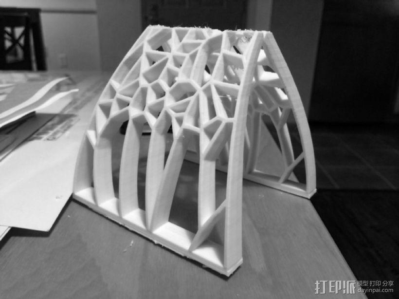 泰森多边形拱门 3D模型  图1