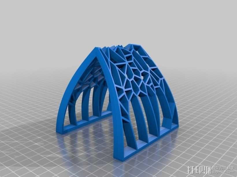 泰森多边形拱门 3D模型  图2