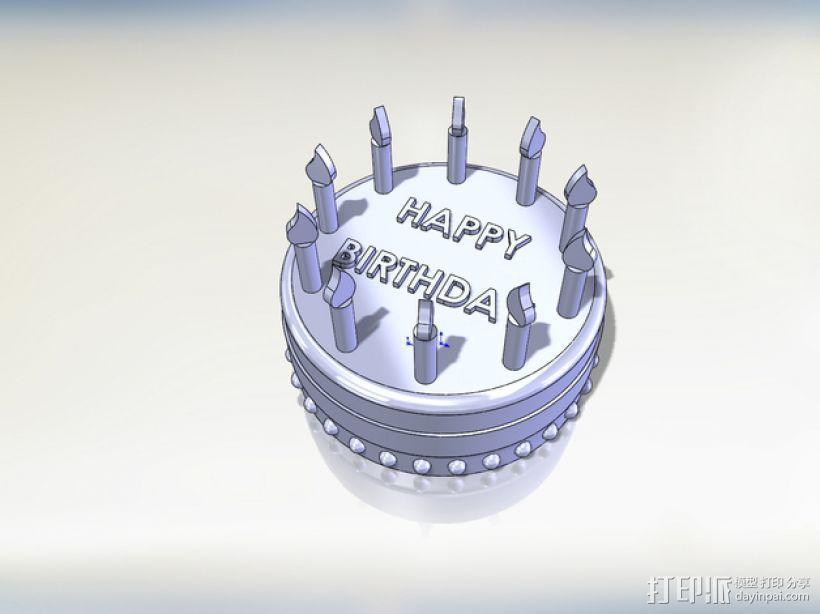 生日蛋糕 3D模型  图1