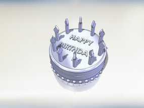 生日蛋糕 3D模型