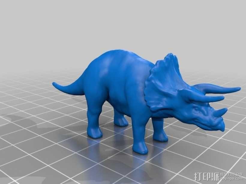 三角恐龙 3D模型  图1