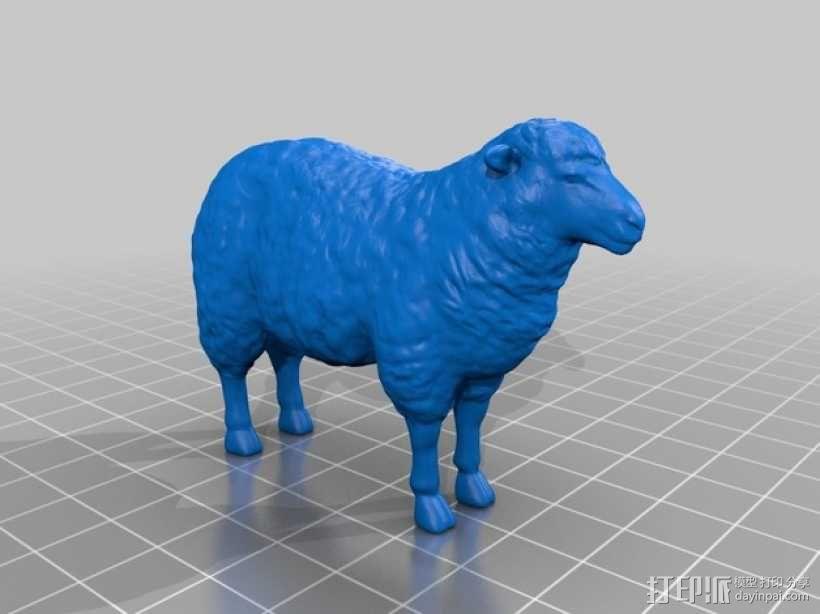 绵羊 3D模型  图1