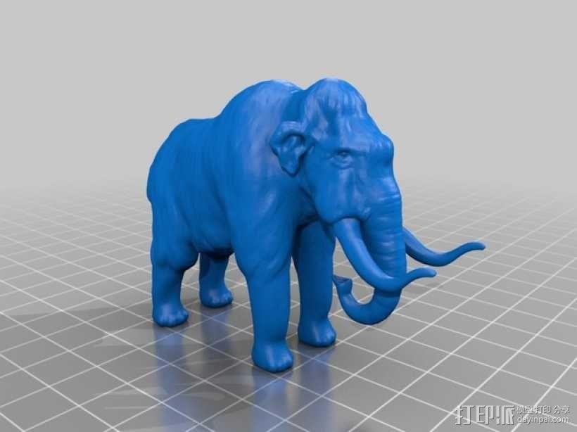 长毛象 3D模型  图1