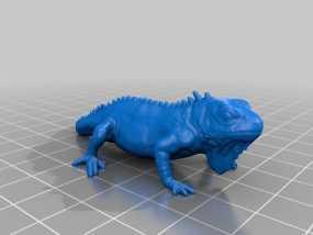 鬣蜥蜴 3D模型