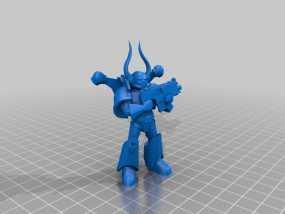 Dark Marine星际战士 3D模型